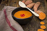 Bowl of sweet potato coconut soup - LVF004783