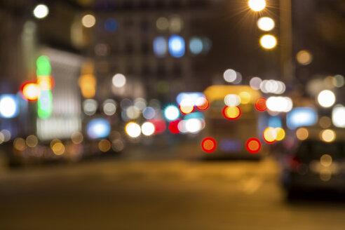 France, Lyon, traffic at night - JUNF000513