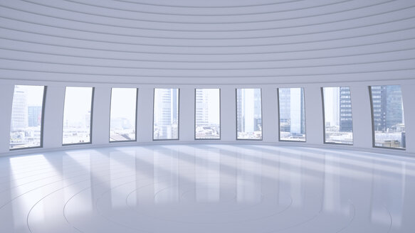 Empty hall in a high-rise building, 3D Rendering - UWF000852