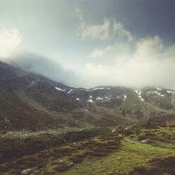 Switzerland, Grisons, at Spluegen-pass in the morning - DWIF000723