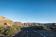 Spain, Tenerife, empty road in El Teide region - SIPF000374