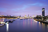 UK, London, skyline with River Thames at dawn - BRF001337