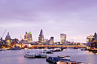 UK, London, skyline with River Thames at dawn - BRF001340