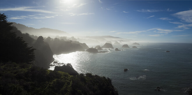 USA, California, Coast at Highway 1 in the morning - STCF000195