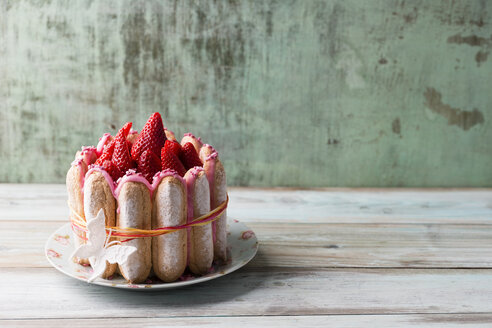 Homemade strawberry cake with ladyfingers - MYF001464
