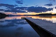 Austria, Salzburg State, lake Wallersee at sunset - YRF000103
