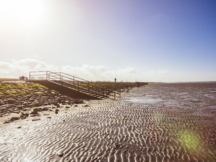 Germany, Lower Saxony, near Cuxhaven, Wadden Sea during low tide - KRPF001741