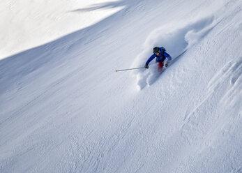 France, Isere, Les Deux Alps, off-piste skiing - ALRF000387