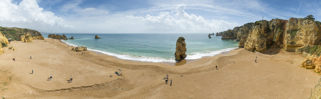 Portugal, Algarve, Lagos, Dona Ana beach, panoramic view - FRF000423