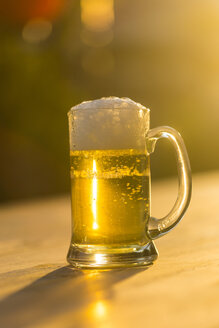 Glass of fresh beer at evening twilight - SARF002725