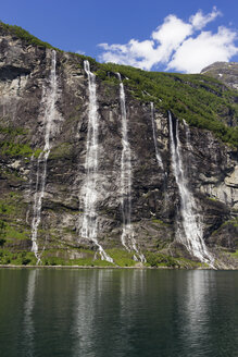 Norway, Geiranger Fjord, seven sisters, waterfall - SJF000167