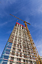 Germany, Stuttgart, construction site of new office building - WDF003604