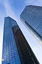 Germany, Frankfurt, facades of Deutsche Bank skyscrapers - FCF000928