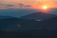 Bulgaria, Rhodope Mountains at sunset - BZF000287
