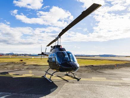 Iceland, Reykjavik, a helicopter - JLRF000015