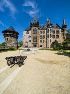 Germany, Saxony-Anhalt, Wernigerode, Wernigerode Castle, Hausmann Tower - AM004893