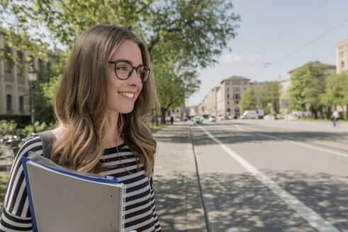 Smiling student outdoors - KAF000145