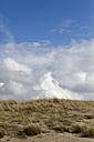 Germany, Mecklenburg-Western Pomerania, Baltic Sea coast, clouds and beach dune - JTF000740