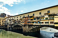 Italy, Tuscany, Florence, Ponte Vecchio, Arno river - CSTF001079