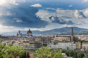 Italy, Tuscany, Florence, historic old town, Basilica of Santa Croce right - CSTF001082