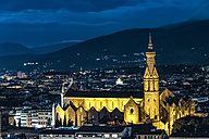 Italy, Tuscany, Florence, Basilica di Santa Croce at night - CSTF001094