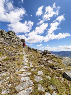 Spain, Sierra de Gredos, man hiking in mountains - LAF001641