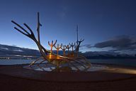 Iceland, reykjavik, sculpure The Sun Voyager - FDF000166