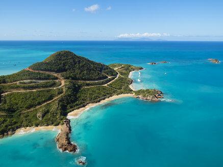 West Indies, Antigua and Barbuda, Antigua, aerial view, Yepton Beach - AMF004905