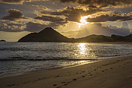 Indonesia, Coastline of Sumbawa island at sunset - KNTF000284