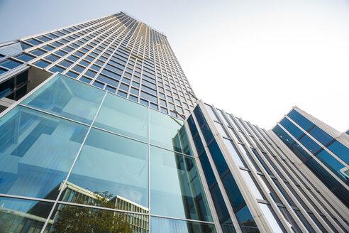 Germany, Frankfurt, glass facades of modern bank buildings - TAMF000478
