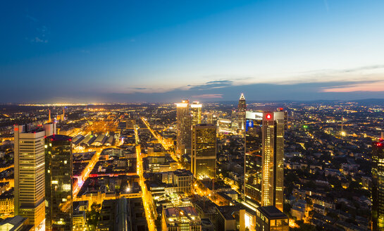 Germany, Frankfurt, city view from above by sunset - TAMF000487