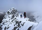 Scotland, Glencoe, Beinn a'Bheithir,  mountaineering in winter - ALRF000484