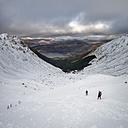 Scotland, Glencoe, Beinn a'Bheithir,  mountaineering in winter - ALRF000487