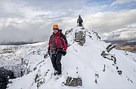 Scotland, Glencoe, Beinn a'Bheithir,  mountaineering in winter - ALRF000499