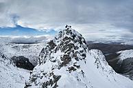 Scotland, Glencoe, Beinn a'Bheithir,  mountaineering in winter - ALRF000502