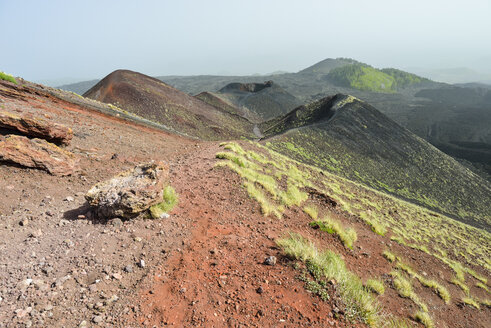 Italy, Sicily, Mount Etna, volcanic crater - RJF000594