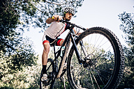 Mountain biker on the move - JRFF000711