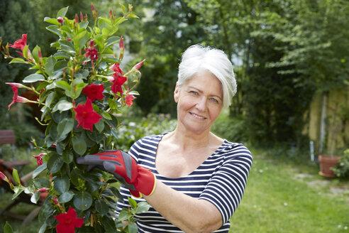 Portrait of woman in the garden - FMKF002741