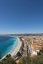 France, Provence-Alpes-Cote d'Azur, Nizza, coastal town and beach - VIF000480
