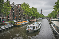 Netherlands, Amsterdam, Prince's Canal, tourist boat - KEBF000383