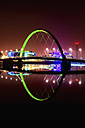 UK, Scotland, Glasgow, view to lighted Squinty Bridge by night - SMAF000470