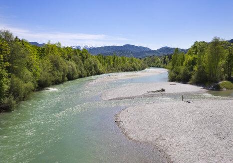 Germany, Bavaria, Upper Bavaria, Isar river, Lenggries, Isarwinkel - SIEF007026