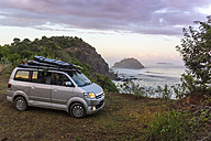Indonesia, Surf car at coastline of Sumbawa island - KNTF000294