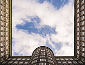 Germany, Hamburg, courtyard of Chile house seen from below - KRP001757