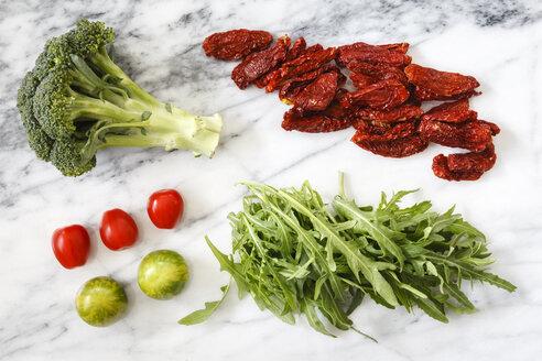 Ingredients of salad on white marble - EVGF002967