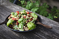 Salad made of rice, lentils, different vegetables and roasted pine nuts - EVGF002970