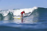 Indonesia, Bali, Surfer on wave - KNTF000318