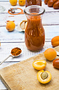 Ingredients for homemade apricot ketchup - LVF004933