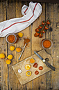 Ingredients for homemade apricot ketchup - LVF004936