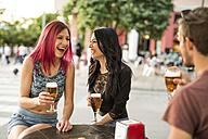 Friends having fun in a bar - JASF000841